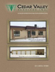 2012 Annual Report - Cedar Valley Services Inc.