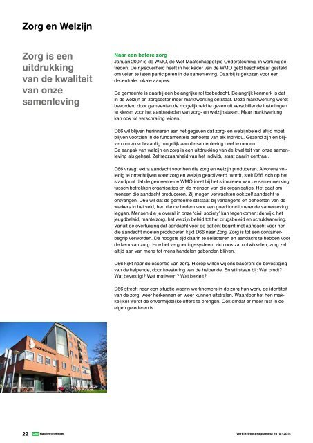 Verkiezingsprogramma - D66 Haarlemmermeer