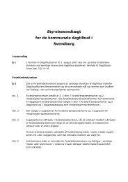 Styrelsesvedtægt - Svendborg kommune