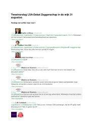 Twitter-verslag - Landelijk Samenwerkingsverband Aandachtswijken