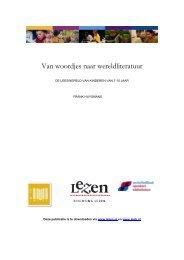 Van woordjes naar wereldliteratuur - Stichting Lezen