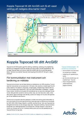 Topocad databasadapter ArcGIS - Adtollo