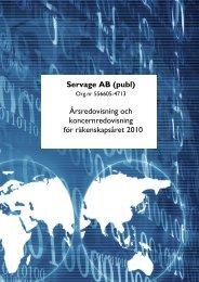 Servage AB (publ) Årsredovisning och koncernredovisning för ...