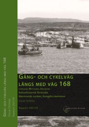 GånG- och cykelväG länGs med väG 168