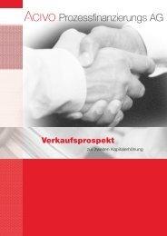 Verkaufsprospekt - ACIVO Prozessfinanzierungs AG