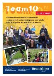 Team 10 info - Holbæk Private Realskole