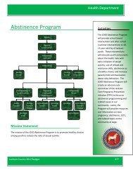 Abstinence Program - Jackson County, Michigan