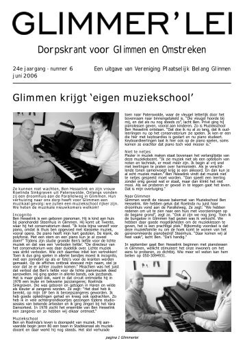 Glimmer'lei juni 2006 - Glimmen