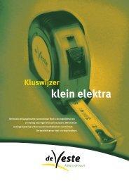 Kluswijzer klein elektra - De Veste