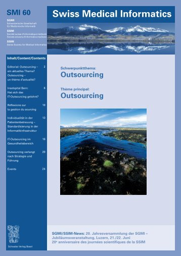 Outsourcing - aktuell - Swiss Society for Medical Informatics