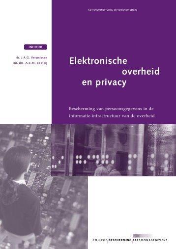 Elektronische overheid en privacy - College bescherming ...