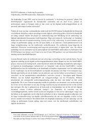 DAVID-Conferentie: e-Archiving for posterity Filip Boudrez ... - eDAVID