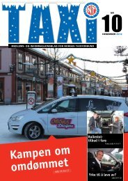 TAXI nr. 10/12 - Norges Taxiforbund