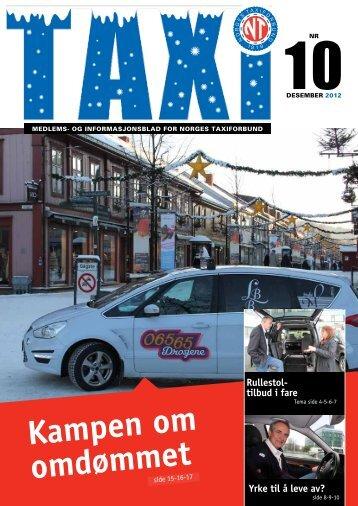 TAXI nr. 10/12 - Norges Taxiforbund