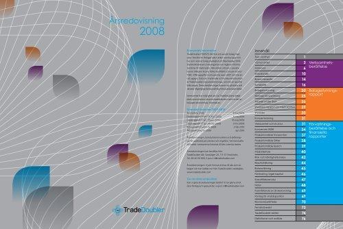 TradeDoublers Årsredovisning 2008