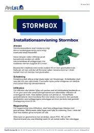 Installationsanvisning Stormbox - Pipelife