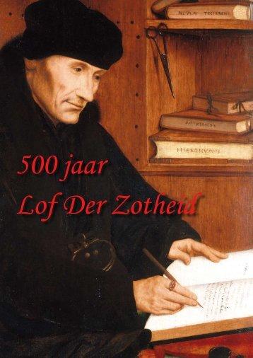 500 jaar Lof der Zotheid - Humanistisch-Vrijzinnige Vereniging