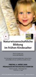 Naturwissenschaftliche Bildung im frühen Kindesalter - Institut für ...