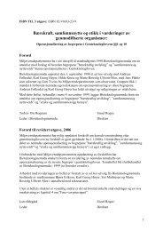 Bærekraft, samfunnsnytte og etikk i vurderinger av genmodifiserte ...