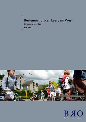 Bestemmingsplan Leerdam West - Gemeente Leerdam