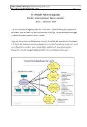 Technische Rahmenvorgaben für den elektronischen Rechtsverkehr