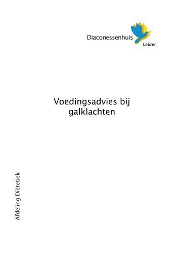 voedingsadvies bij galklachten.pdf - Diaconessenhuis Leiden