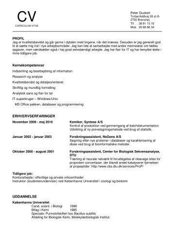 CV - PeterDuckert.dk
