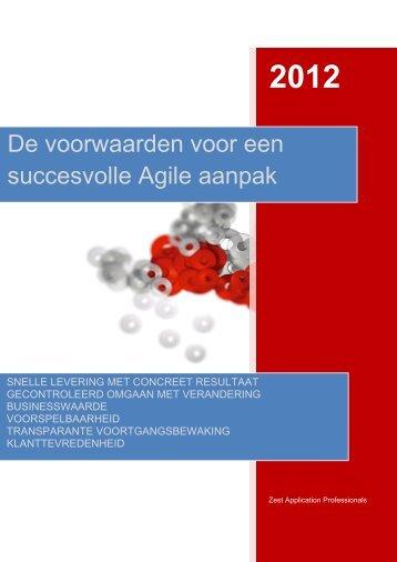 De voorwaarden voor een succesvolle Agile aanpak