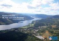 Kommunikation till, från och inom Åredalen - Clim-ATIC
