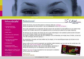 Nieuwsbrief 2012 nr. 2 - CAW De Papaver