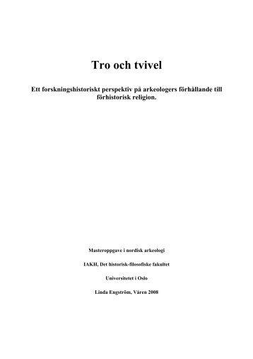 Tro och tvivel - DUO - Universitetet i Oslo