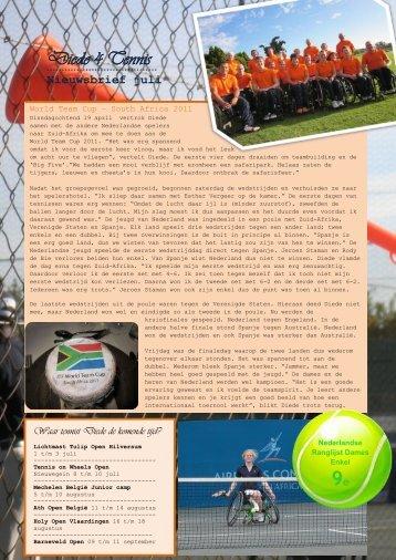 Nieuwsbrief - Diede 4 Tennis