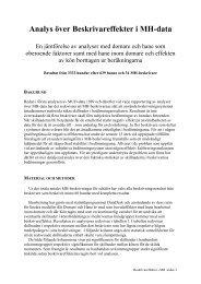 Analys över Beskrivareffekter i MH-data