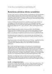 Rosterierna och deras största varumärken - Anne Nilsson