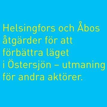 Helsingfors och Åbos åtgärdsprogram
