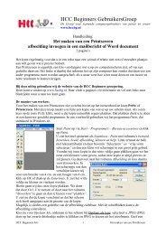 pdf-formaat (264 kB) - HCC Beginners Gebruikers Groep