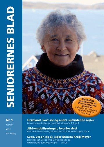Seniorernes Blad nr. 1 2013 - Pensionisternes Samvirke