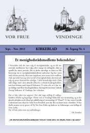 VOR FRUE VINDINGE - KirkeWeb - this is the default web page for ...