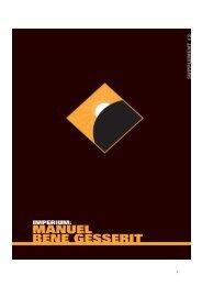 manuel bene gesserit - Olivier Legrand