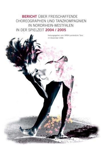 bericht über freischaffende choreographen und tanzkompagnien in ...