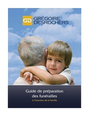 Guide de préparation des funérailles - Grégoire et Desrochers