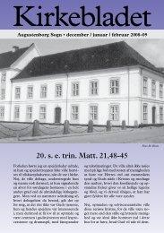 Kirkebladet for december 2008 - jaunuar 2009 - Augustenborg Kirke