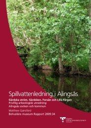 Spillvattenledning i Alingsås