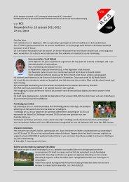 Nieuwsbrief nr 10 (seizoen 2011/2012) - RCS