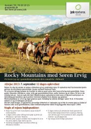 Hent brochure for Rocky Mountains - Jysk Rejsebureau