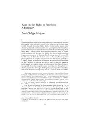 Kant on the Right to Freedom: A Defense* Louis-Philippe Hodgson