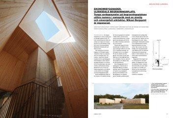 Läs artikeln om Ulriksdal i tidningen Arkitektur (pdf) - Åke Sundvall