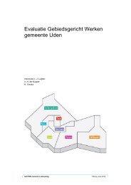 Evaluatie Gebiedsgericht Werken gemeente Uden - PON