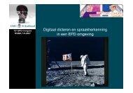 Digitaal dicteren en spraakherkenning in een EPD omgeving