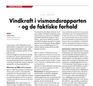 Vindkraft i vismandsrapporten - Danmarks Vindmølleforening